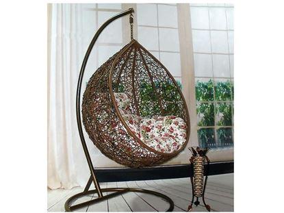 Изображение Подвесное кресло коричневое